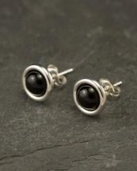 Black Onyx Studs Black Onyx Earrings Black Onyx Stud