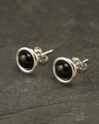 Black Onyx Studs- Black Onyx Earrings- Black Onyx Stud ...