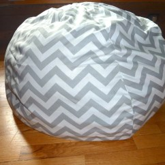 Bean Bag Chair Covers Conference Room Chairs With Wheels And Arms Grey White Chevron Cover Silver Gray Red