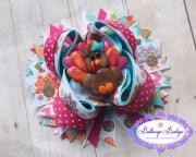 items similar turkey hair bow