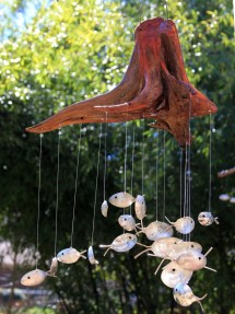 Fish Wind Chimes Made with Spoons