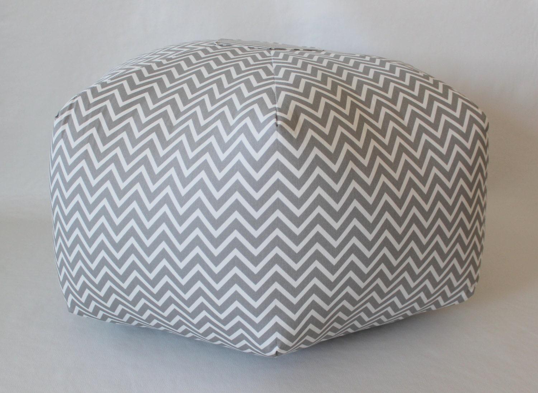 24 Ottoman Pouf Floor Pillow Cosmo Chevron By Aletafae On Etsy