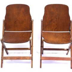 Folding Chair Hinges Wedding Covers And Sash Hire Vintage Antique Wood Chairs With Brass Hardware Set