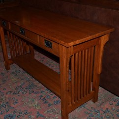 Mission Style Oak Sofa Table Simmons Warranty Unavailable Listing On Etsy