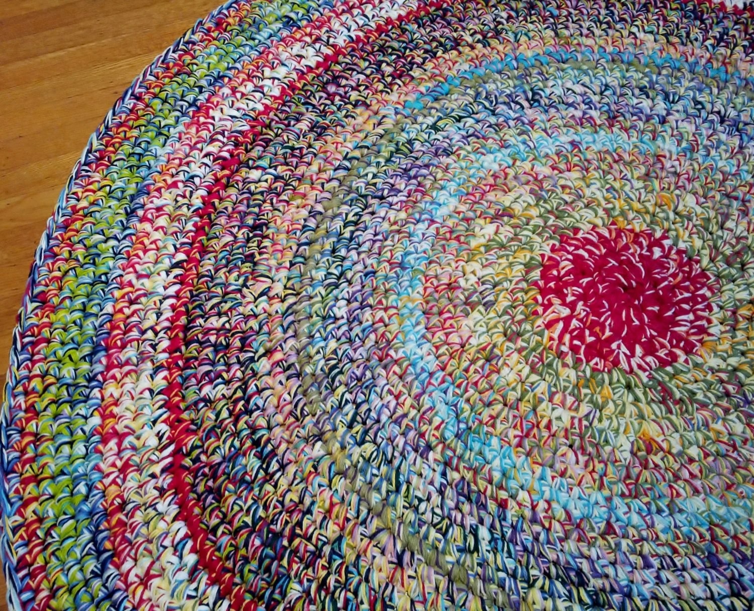 Wildly Colorful Area RugCrochet Round RugsRound