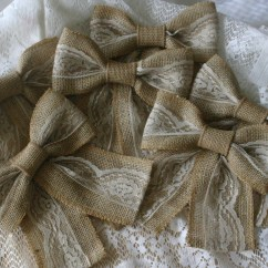 Burlap Bows For Wedding Chairs Bedroom Chair Design Ideas Image Sale And Ivory Lace