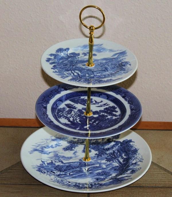 3 Tier Cake Cupcake Wedgwood Plate Stand Blue Botanicalgems