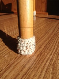 Crochet Chair Socks Chair Booties with Elastic Top.