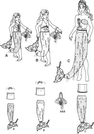 Mermaid Costume Pattern by Simplicity Costumes 4043 in all