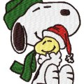 Snoopy hugging woodstock christmas machine embroidery design instant