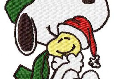 Snoopy Christmas Embroidery Designs