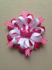 pink hair bow princess