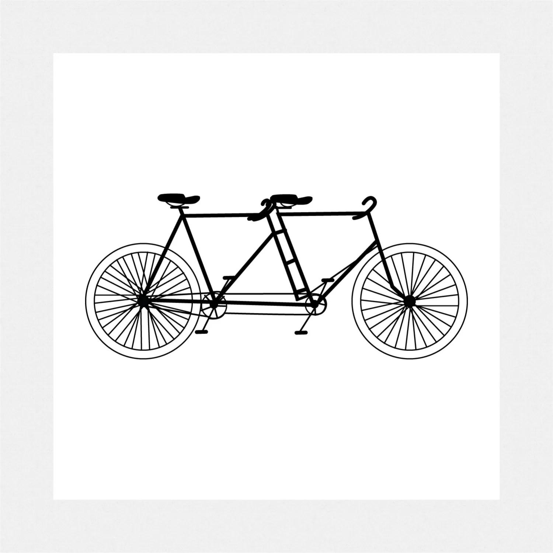 Items Similar To Tandem Bicycle Clip Art Digital Download