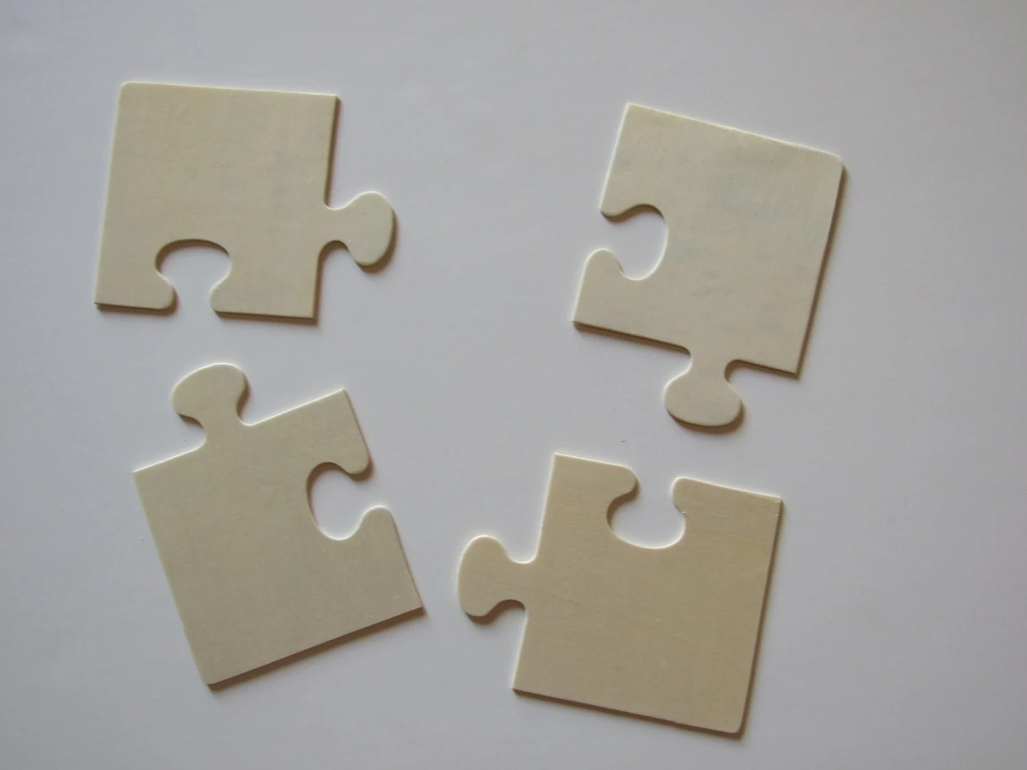 Blank Wood Puzzle Pieces Ready For You To Decorate By Bagaboo