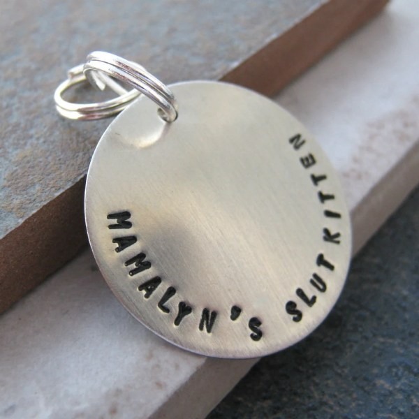 Personalized Slave Collar Charm 1 Disc