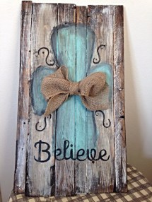 Rustic Distressed Hand-painted Pallet Sign. Perfect