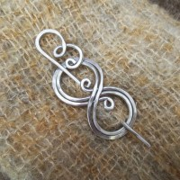 BooKnits Aluminum Shawl Pin Scarf Pin Sweater by ...