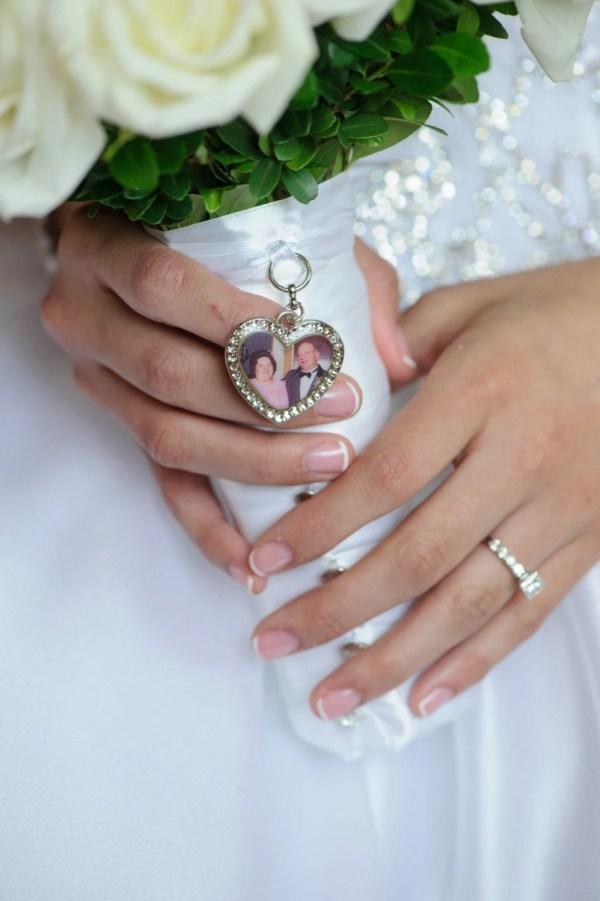Wedding Bouquet Charm Bridal Keepsake Heart Personalized