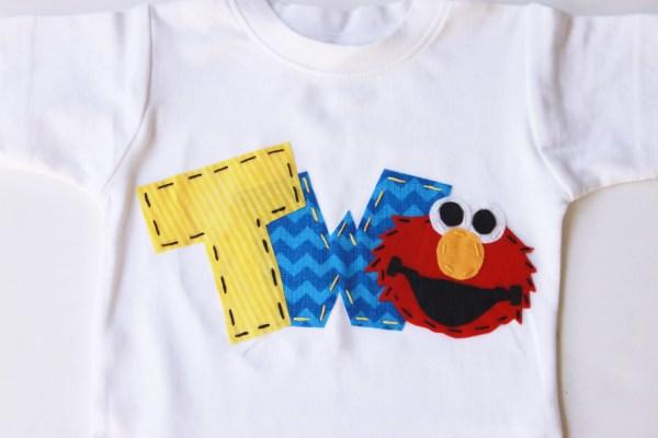Elmo Birthday Shirt Two 2nd Girl Boy T