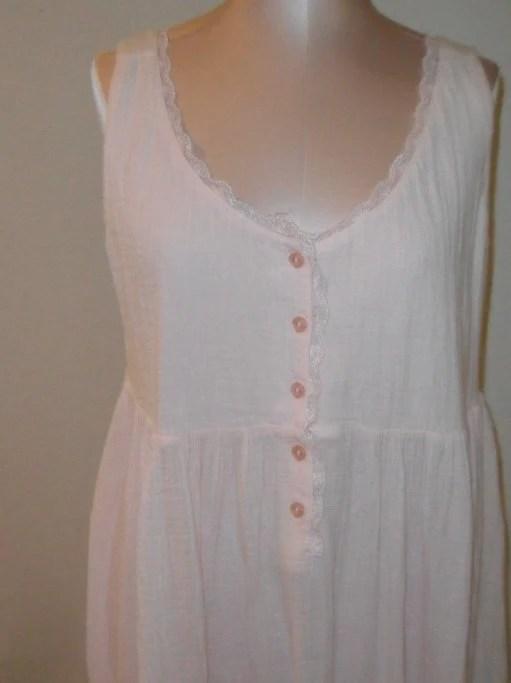 Vintage Nightgown Gauze Victorias Secret by desertgraceboutique