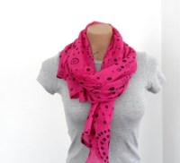 Pink Scarf Geometric Scarf Womens Scarves Cotton Scarf