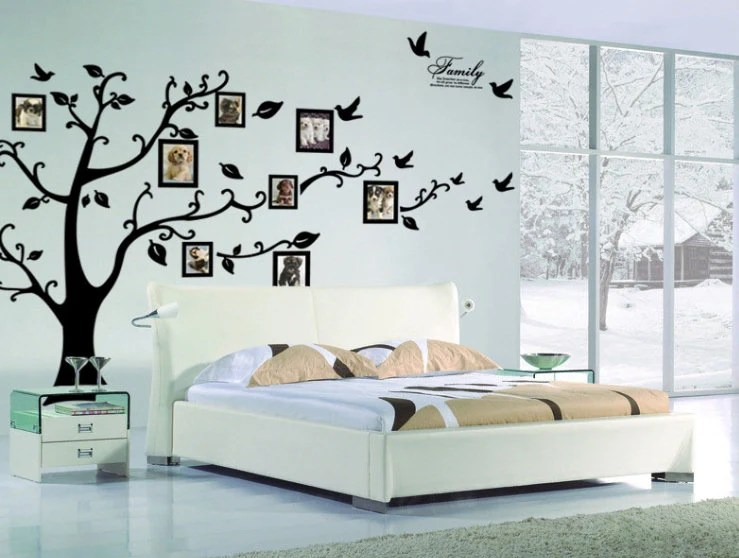 Family Tree Wall Decal Photo Frame Tree Decal-Tree By