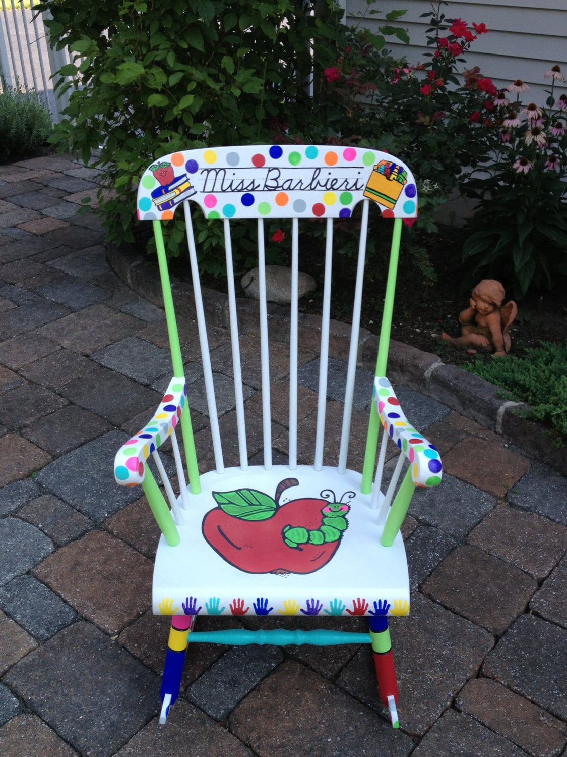 Teacher Chair Handpainted Custom Teacher Chair Your Chair My Customized