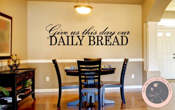 Kitchen Decor Wall Decal Christian