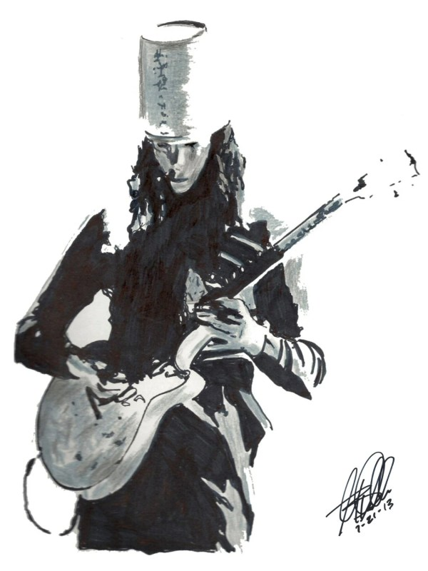 Buckethead Poster Original Drawing 18 X 24
