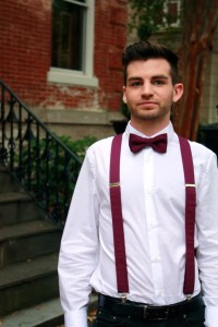 Items similar to Eggplant Suspenders & Bow Tie Set for Men ...