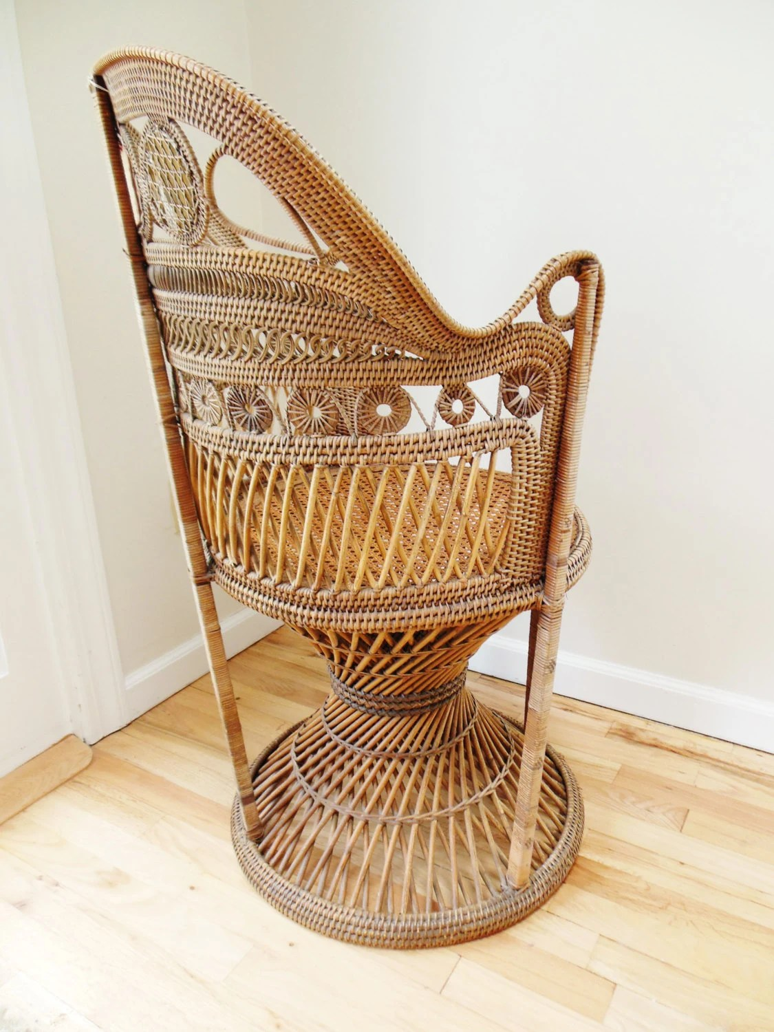 Vintage Rattan Chairs Wicker Chair Antique Ornate