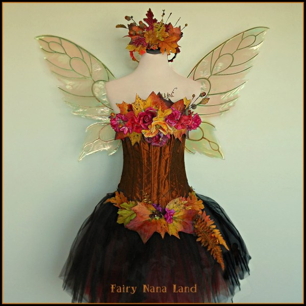 Items Similar - Adult Fairy Costume Woodland Autumn Glory Faerie Bust Size 36