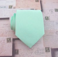 Mint Green Mens Tie With FREE Matching Pocket Square Pastel