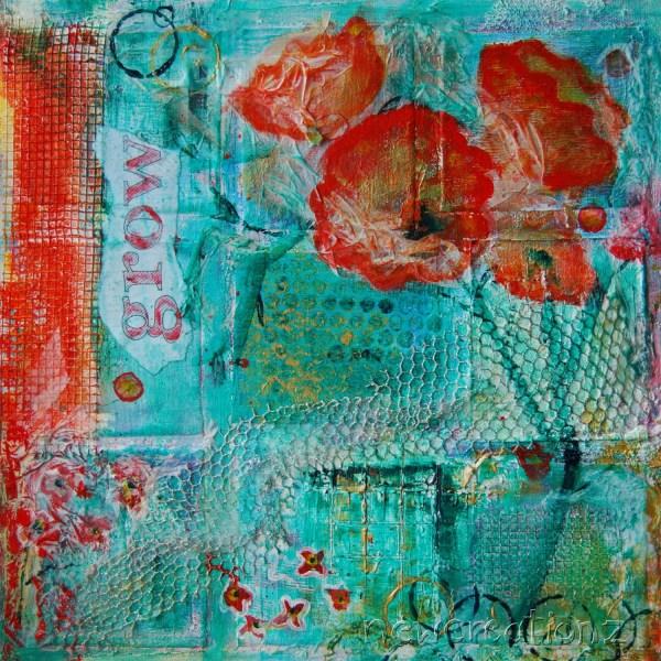 Contemporary Fine Art Mixed Media Painting Print