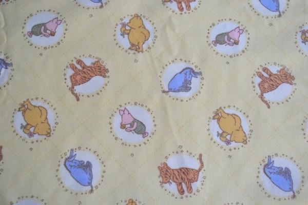 Vintage Fabric Winnie Pooh Classic Print
