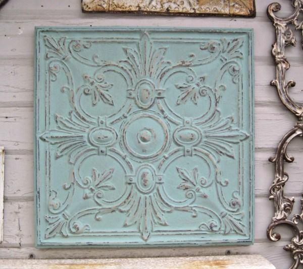 2'x2' Antique Tin Ceiling Tile. Circa 1900. Ready