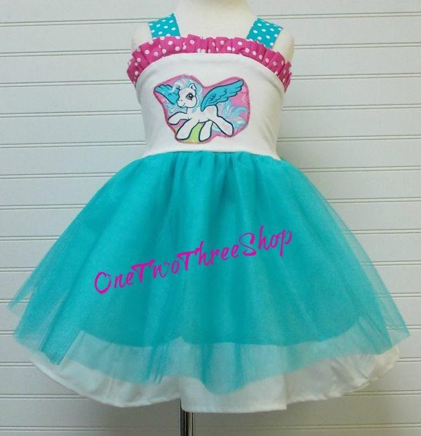 Custom Boutique Clothing Little Pony Tulle Dress Sassy
