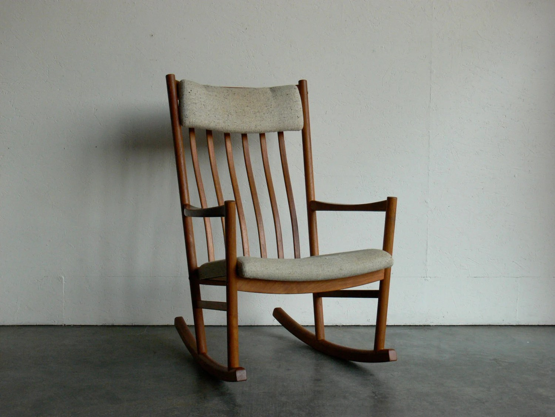 danish modern rocking chair overstock desk vintage hans wegner teak