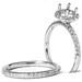 Halo Diamond Mount Engagement Matching Wedding Band Ring