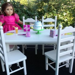 American Girl High Chair Cheap Chairs For Sale Doll Furniture Table 6 Set Dolls