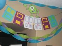 Monsters Inc. birthday party banner door banner Monsters