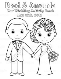 Printable Personalized Wedding coloring activity by ...