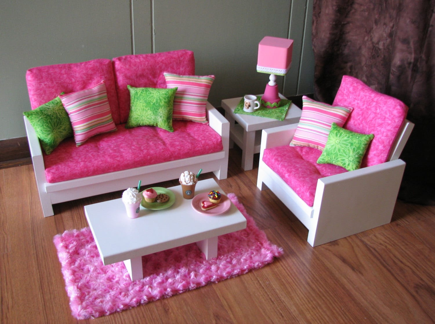 boxed chair cushions metal folding covers diy 18 doll furniture american girl sized living room