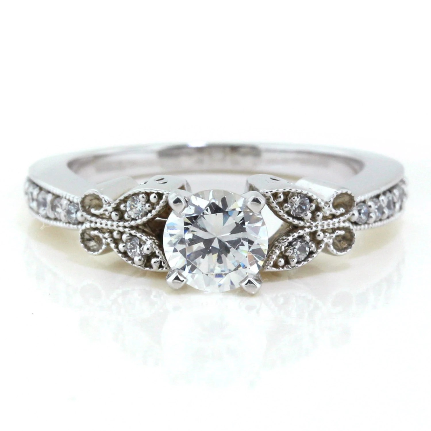 Butterfly Moissanite Engagement Ring