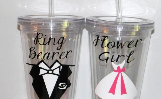 Ring Bearer Gift Tumbler Personalized Wedding Flower Girl