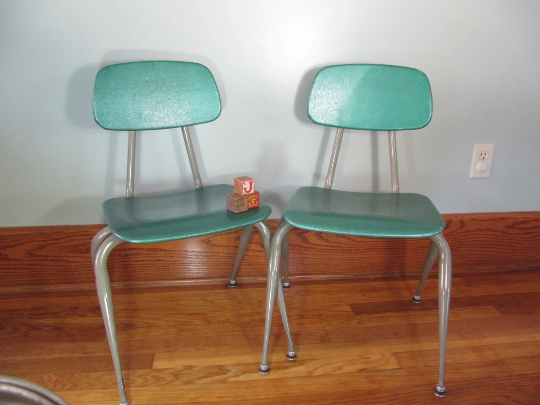adult high chair hanging garden chairs uk vintage metal school green