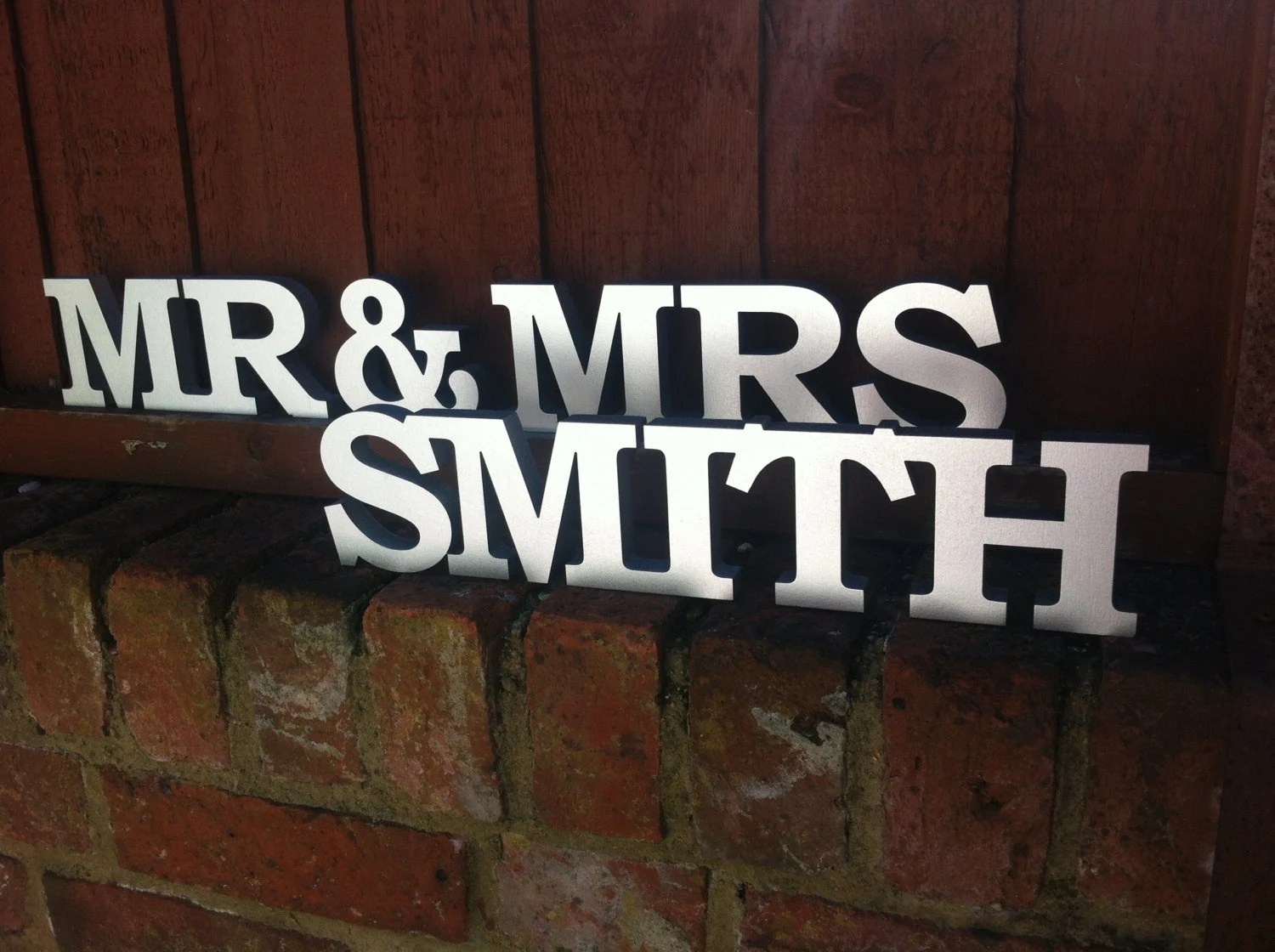 Personalised Mr And Mrs Letters Stand Up By KatesWeddingShop