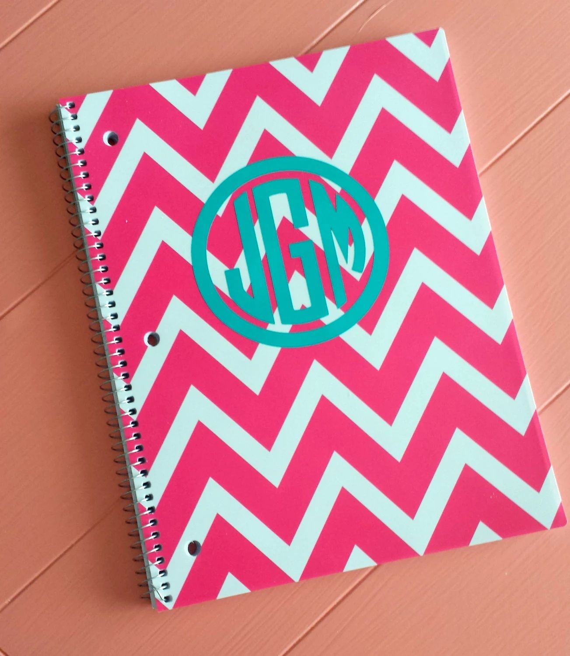 monogrammed notebooks