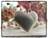 """Heart Finger Ring """"Take a little bite of my heart!"""" Sterling Silber adjustable - BarbarasBasteleien"""