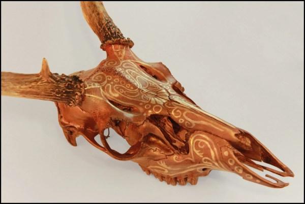 Painted Deer Skull Art
